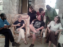 Participants in the Jerusalem Bibliodrama group at Ecce Homo