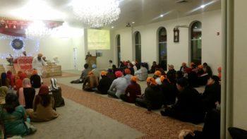 Elijah leader Imam Muhammad Suheyl Umar presenting to Sikh Community